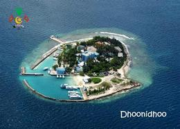 Maldives Dhoonidhoo Aerial View Postcard Malediven AK - Maldiven