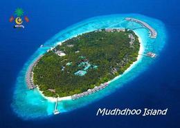 Maldives Mudhdhoo Aerial View Postcard Malediven AK - Maldiven