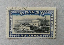 CRETE UNION WITH GREECE 1913 SOUDA USED - Oblitérés