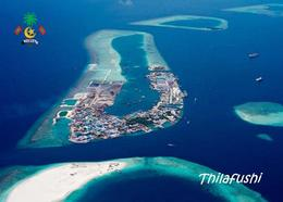 Maldives Thilafushi Artificial Island Aerial View Postcard Malediven AK - Maldiven