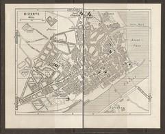 CARTE PLAN 1955 - TUNISIE BIZERTE - ARSENAL ASILE De VIEILLARDE ZARZOUNA ANDALOUSE - Carte Topografiche
