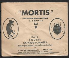 Cheque Cover France,Paris,chèques Postaux.CCP.Postes Telegraphes Et Telephones,rats Mice Cockroaches,poison - Publicités