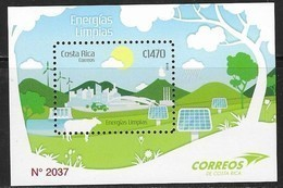 COSTA RICA, 2019, MNH,CLEAN ENERGIES, CARS, COWS, WIND ENERGY, SOLAR PANELS, TREES, S/SHEET - Protection De L'environnement & Climat