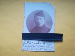 BRIGADIER D ARTILLERIE  DE FORTERESSE À LIÈGE FORT BARCHON BLEGNY IDENTIFIÉ GUERRE 1914 -1918 Mort En 1916 CARTE - PHOTO - Oorlog 1914-18