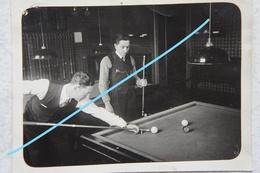 Photo Joueurs De Billard Billiards Belgium Circa 1920 - Fotos