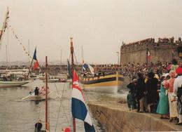 """35 SAINT-MALO 1991 Lancement Du Côtre Corsaire """"Le Renard"""" - Saint Malo"""
