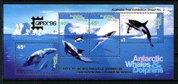 ANTARCTIQUE AAT 1995 Bloc N° 3 ** Neuf MNH Superbe C 35 € Faune Marine Baleines Dauphins Orque Animaux - Territoire Antarctique Australien (AAT)