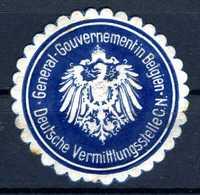 Allemagne  Cinderella General Gouvernement Belgien - Duitsland