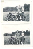 2 Photos Couple Sur Moto Terrot , 1938 - Automobiles