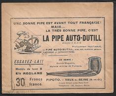 Cheque Cover France,Paris,chèques Postaux.CCP.Postes Telegraphes Et Telephones,PIPE AOTO CAR SMOKER - Publicités