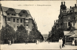 Cp Koblenz In Rheinland Pfalz, Hohenzollernstraße, Passanten - Allemagne