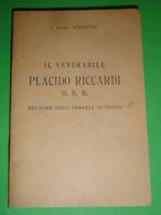"""I.Card.SCHUSTER""""Ven.PLACIDO RICCARDI O.S.B.Abbazia FARFA SABINA,,/Libretto 1944 Istituto Missionario Pia Società S.Paolo - Santini"""