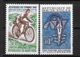 1967 - N° 182 à 183**MNH - Journée Du Timbre - Union Monétaire - Haute-Volta (1958-1984)