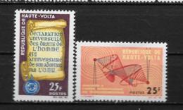 1963 - N° 130 à 131*MH - Déclaration Universelle Des Droits De L'homme - Admission UIT - Haute-Volta (1958-1984)