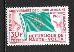 1962 - N° 107*MH - Union Africaine - Haute-Volta (1958-1984)