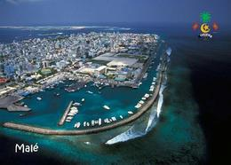 Maldives Malé Aerial View New Postcard Malediven Flughafen AK - Maldiven
