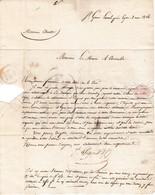 1826 - St GENIS-LAVAL (69) - L.S. Jh PIGNET & Cie à M. CHARTRE Maire De COMMELLE (42) Esquisse D'une BANNIÈRE - Historical Documents