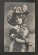 Beautiful Girl 1910s Postcard Grete Reinwald With Fashion Hat - Portraits
