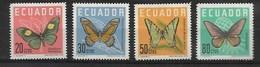 ECUADOR 1961 BUTTERFLIES MNH - Butterflies