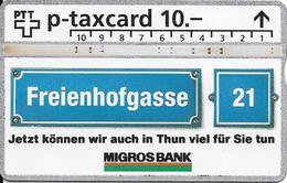 Switzerland: PTT KP-93/249B 402L Migros Bank Thun - Svizzera