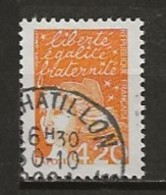 FRANCE:, Obl., N° YT 3094a (t. I), TB - 1971-76 Marianne Of Béquet