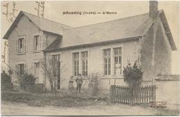 36 - MEOBECQ (Indre) - L'Ecole. Animée, Rare CPA Ayant Circulé. BE. - Andere Gemeenten