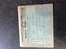 Belgium World War I WWI Letter Célestin Denil To Brussels SM OHMS   Legerposterij SM Armee Belge - Armée Belge