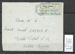 Algerie -Lettre - Cachet Hexagonal BENI RACHED  SAS  - Marcophilie - Algeria (1924-1962)