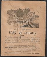 Cheque Cover France,Paris,chèques Postaux.CCP.Postes Telegraphes Et Telephones,HOUS BUILDNING Parc De Sceaux Architectur - Publicités