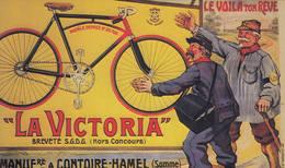 """Facteur & Vélo Publicité Cycles """"La Victoria"""" 80 Contoire-Hamel - Professions"""