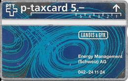 Switzerland: PTT KP-93/258 312L Landis & Gyr - Energy Management (Schweiz) AG - Svizzera