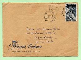 18F AIGUILLE DU MIDI Seul Sur LETTRE Pour LUXEMBOURG - Au TARIF PARTICULIER - 1957 - - Marcophilie (Lettres)