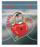 Slovenia, Slowenien, Slovenie 2013; San Valentino, Valentine's Day, Saint Valentin. Lucchetto A Cuore, Heart Lock. New. - Feste