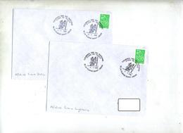 2 Lettre Cachet La Plaine Saint Denis 2006 Match Rugby Equipe De France Angleterre Italie - Storia Postale