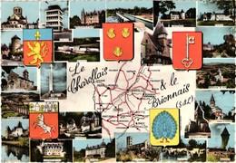 71 .. LE CHAROLLAIS ET LE BRIONNAIS ... BLASONS . CHAROLLES . CHAUFFAILLES . MARCIGNY . LA CLAYETTE . PARAY LE MONIAL - Francia