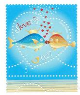 Slovenia, Slowenien, Slovenie 2009; San Valentino, Valentine's Day, Saint Valentin. Pesci Si Amano, Fish Love New. - Feste