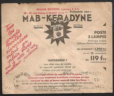 Cheque Cover France,Paris,chèques Postaux.CCP.Postes Telegraphes Et Telephones,washing Machine,Laundry.Motor,elektro - Publicités