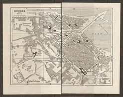 CARTE PLAN 1955 - TUNISIE SOUSSE - RECASEMENT MUSULMAN Et EUROPÉEN STADE CASINO HOPITAL RÉGIONAL CAMP MILITAIRE - Topographische Kaarten