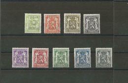 TIMBRES BELGIQUE Préoblitérés  PRE 493/501XX - Typos 1936-51 (Kleines Siegel)