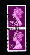 GREAT BRITAIN - 1991  MACHIN  39p.  PAIR IMPERF. TOP&BOTTOM   FINE USED  SG X1058 - Série 'Machin'