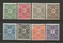 SENEGAL TAXE N° 12 à 19 NEUF* AVEC OU TRACE DE CHARNIERE /  / MH - Sénégal (1887-1944)