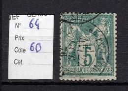 Type Sage  N° 64 TTB 5 Centimes Vert (I) - 1876-1878 Sage (Type I)