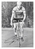 CARTE CYCLISME ROGER GILSON SIGNEE TEAM ROKADO 1974 - Cycling