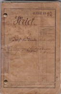LIVRET MILITAIRE, FRANCE 1894. SOLDAT A BUENOS AIRES, ARGENTINA -LILHU - Documents Historiques
