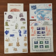 Série Complète Des 10 FEUILLETS CADEAU HORS COMMERCE Offerts Par Philaposte à Ses Abonnés - 1998 / 2007 - Documents De La Poste