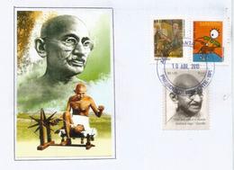 Mahatma Gandhi Brésil (70 Ans De Sa Disparition), Sur Lettre Brésil - Mahatma Gandhi