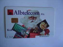 ALBANIA   USED   PHONECARDS  NEW YEAR SANTA CLAUS - Albania