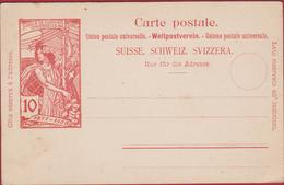 1910 Entier Postal Postwaardestuk Switzerland Suisse HELVETIA Schweiz Ganzsache Postal Stationery Card - Entiers Postaux