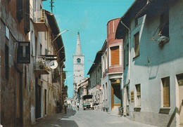 PAVIA - GAMBOLO' - VIA VITT. EMANUELE COL CAMPANILE DI S. GAUDENZIO.......C7 - Pavia