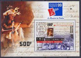 Bloc Feuillet Neuf ** N° 24(Yvert) Polynésie 1999 - Philexfrance 99 - Blocks & Kleinbögen
